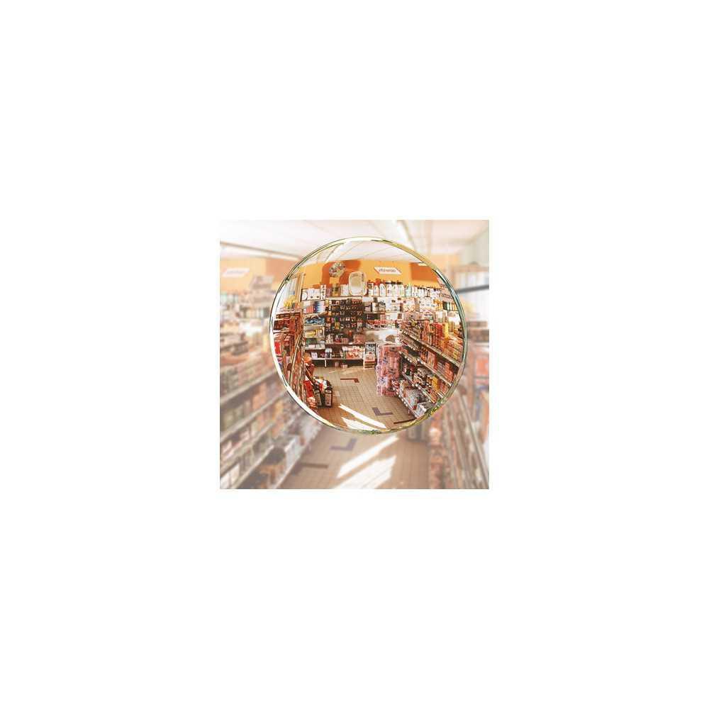 Lustro sklepowe okrągłe nie tłukące podwieszane do sufitu