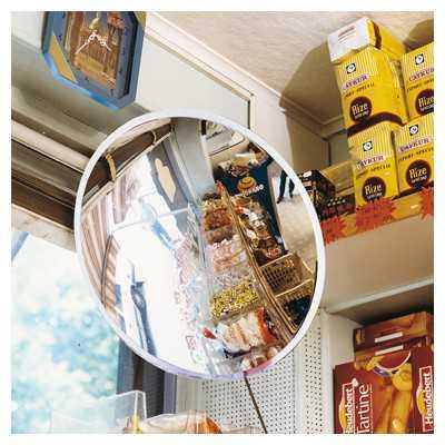 Lustro sklepowe okrągłe nie tłukące przysufitowe przyczepiane