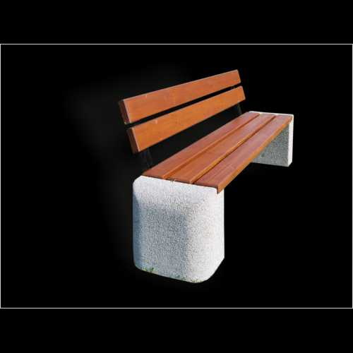 Ławka betonowa z oparciem