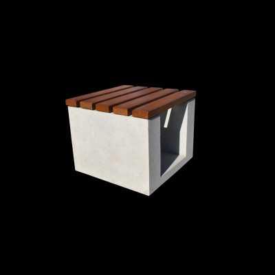 Ława z betonu architektonicznego