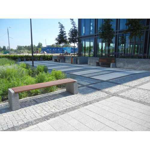 Ławka betonowa bez oparcia
