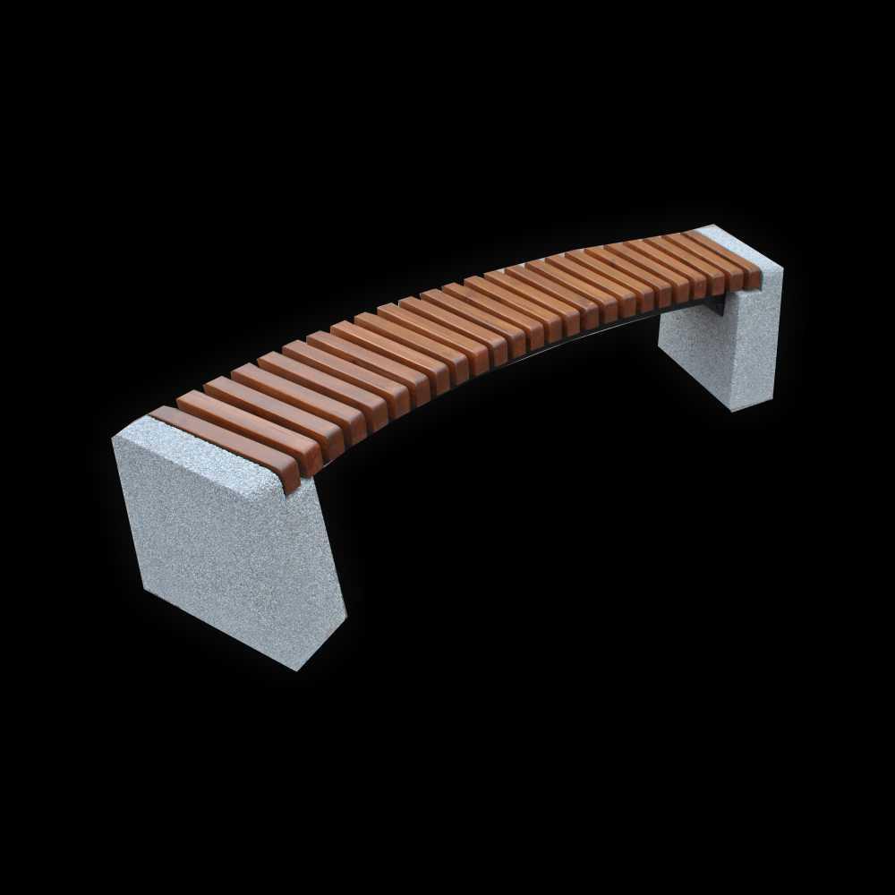 Ławka betonowa łukowa