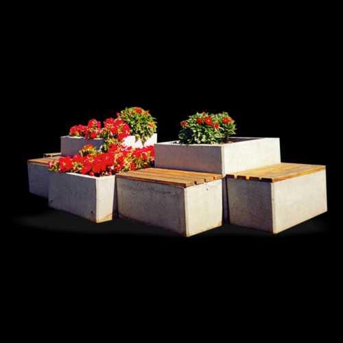 Donice betonowe zestawione