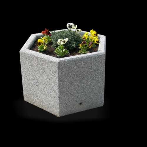 Donica betonowa sześciokątna
