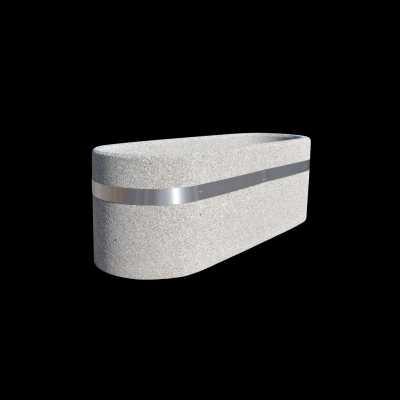 Donica betonowa owalna