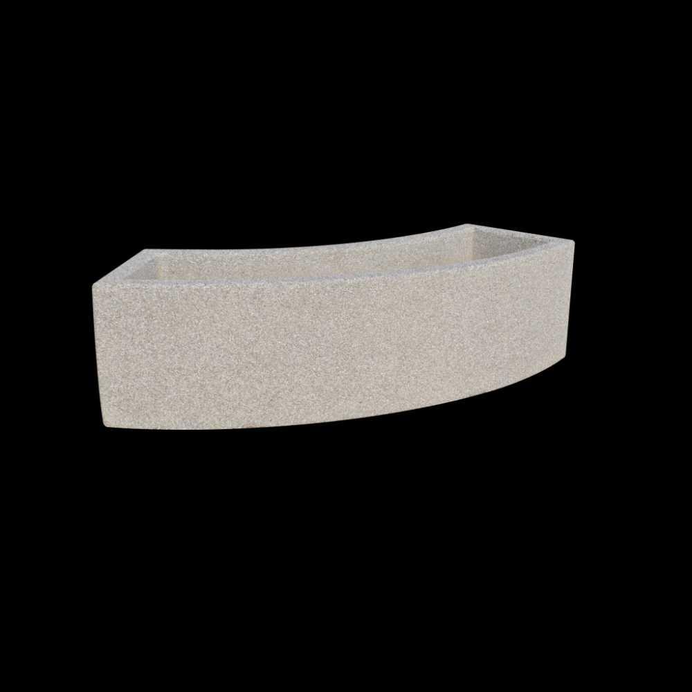 Donica betonowa w kształcie łuku