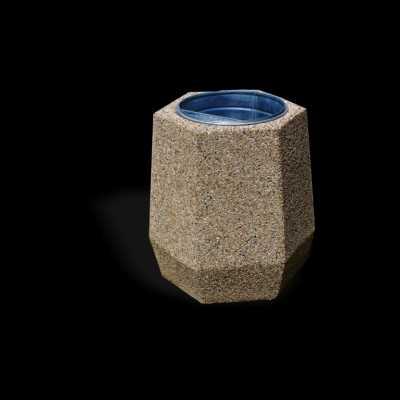 Kosz betonowy sześciokątny