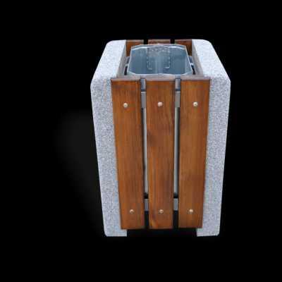 Kosz betonowy czworokątny