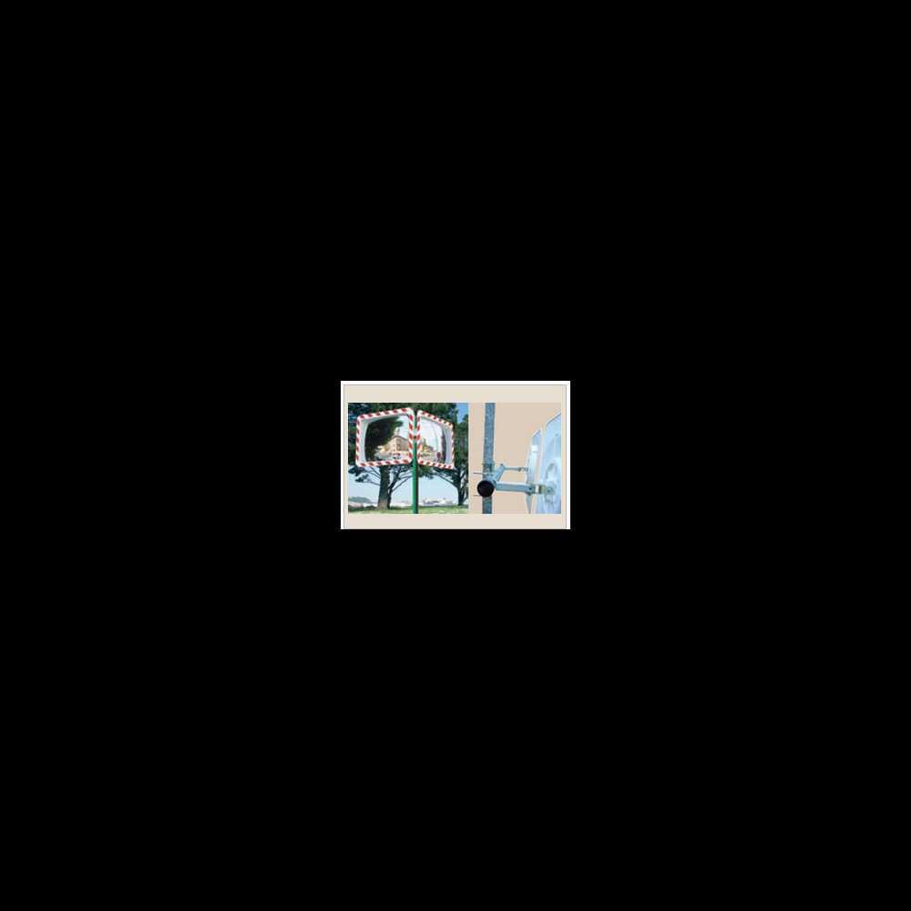 Akcesoria (lustra bezpieczeństwa): uchwyt do montażu dwóch luster