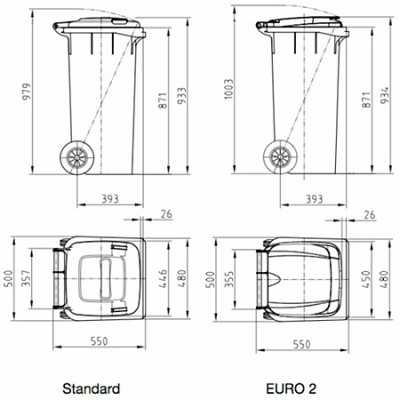 Pojemnik PU23/MGB120  (120 litrów)