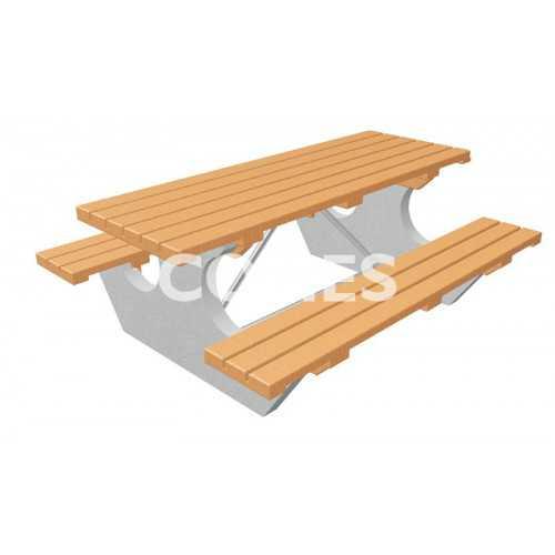 Stół z Ławkami Betonowy Biesiada