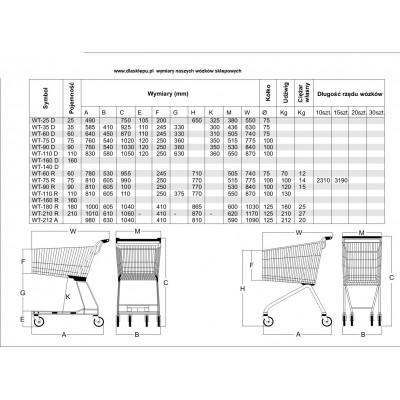 Wózki sklepowe ASAM RUROWY 160 litrów