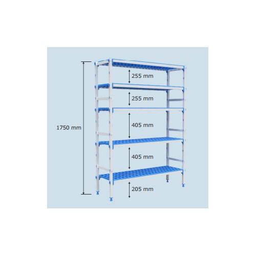Regały przystosowane do pojemników GN1/1 5-półkowe