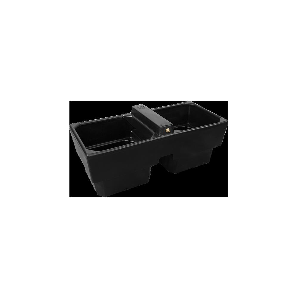 Poidło dwukomorowe dla zwierząt 400 L DT90 czarne