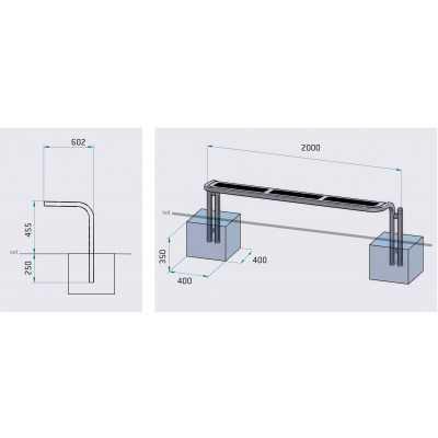 Ławka bez oparcia metalowa Conviviale wymiary ławki