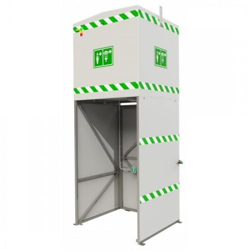 Natrysk bezpieczeństwa prysznic zbiornik 350 l podgrzewany
