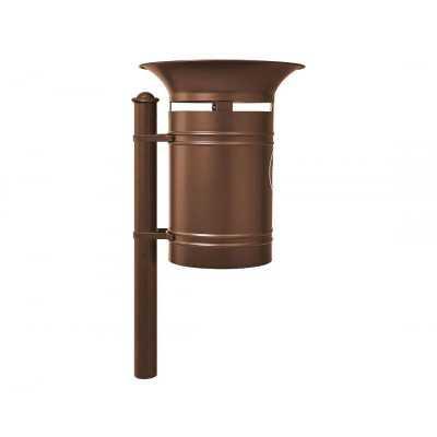Kosz na śmieci okrągły Walencja 40 l stalowy brązowy