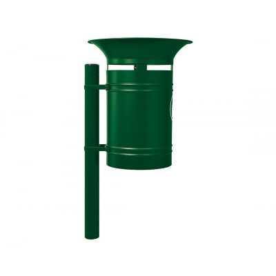 Kosz na śmieci okrągły Walencja 40 l stalowy zielony