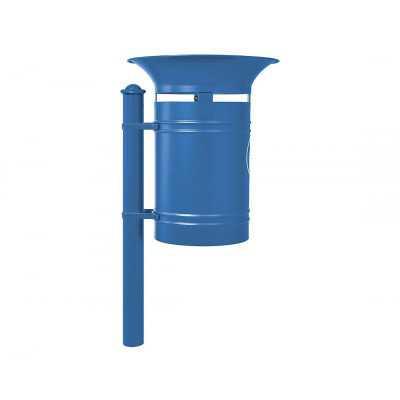 Kosz na śmieci okrągły Walencja 40 l stalowy niebieski