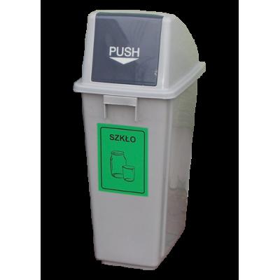 Pojemnik na śmieci z tworzywa pojemność 60 l
