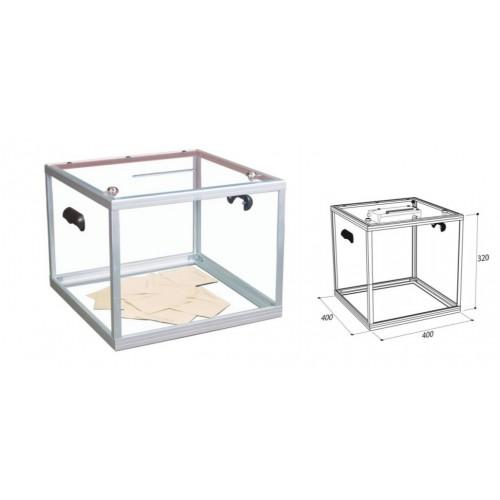 Urny wyborcze z pleksi 40x40x32 przeźroczyste urna