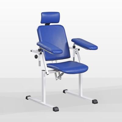 Fotel do pobierania krwi z oparciem i zagłówkiem