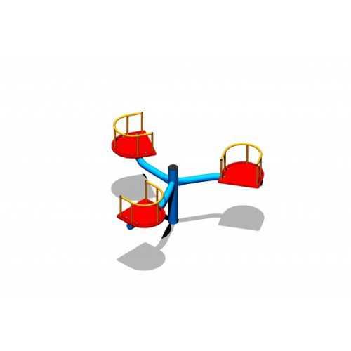 Karuzela krzesełkowa metalowa potrójna PD-04