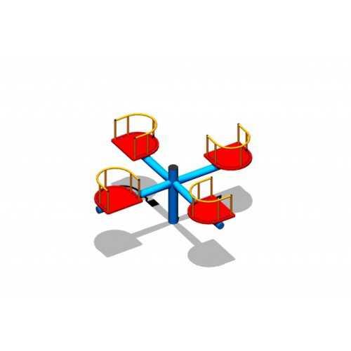 Karuzela krzesełkowa metalowa poczwórna PD-05