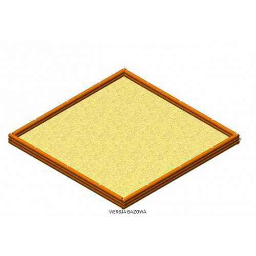 Piaskownica kwadratowa z palisady 3500×3500 PJ-03