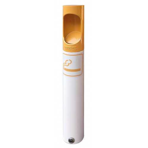 Popielnica Papieros stojąca biało żółta