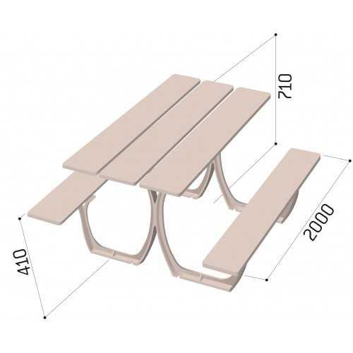 Stół piknikowy Sewilla