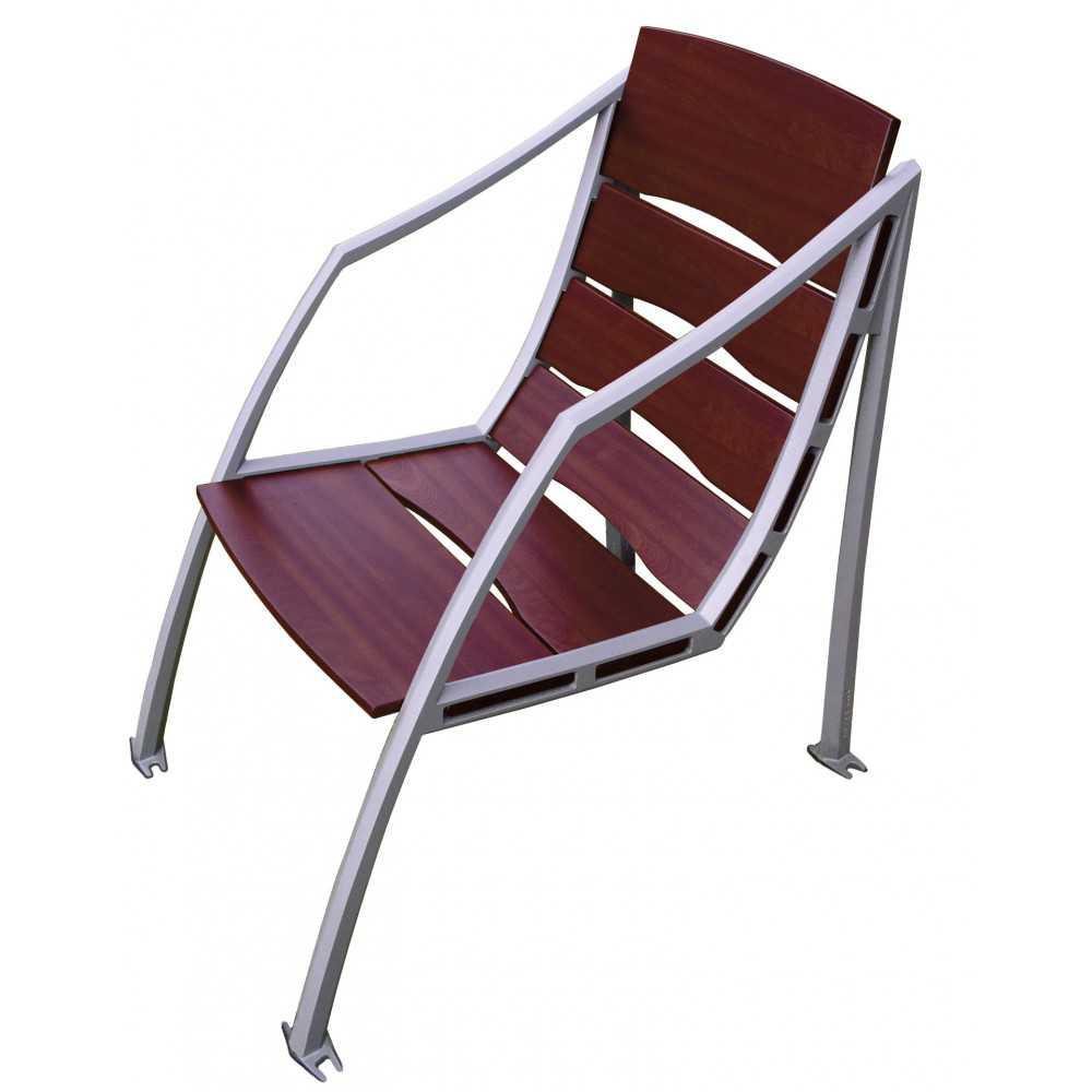 Fotel miejski ogrodowy metalowy Mediolan