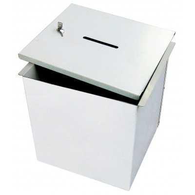 Urny wyborcze do głosowania metalowe 40x40 cm