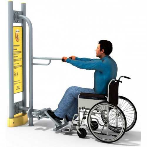 Dla niepełnosprawnych ED-03 B przyciskacz nóg+pylon