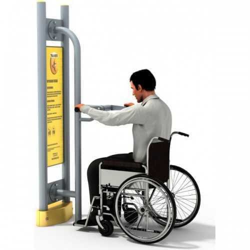 Dla niepełnosprawnych ED-05 A rower ręczny+pylon
