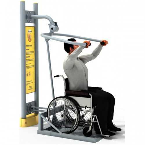 Dla niepełnosprawnych ED 09 wyciąg górny z platformą pylon