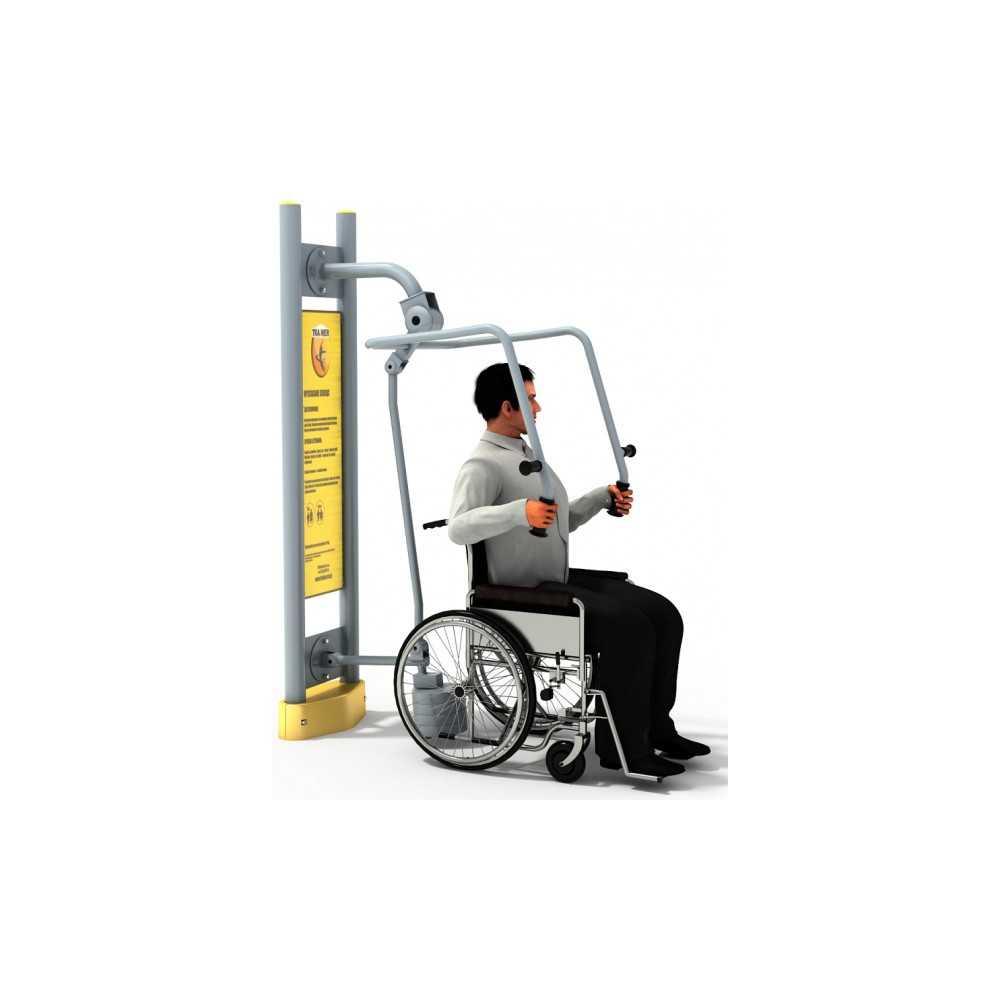 Dla niepełnosprawnych ED 11 wyciskanie z ciężarkiem pylon