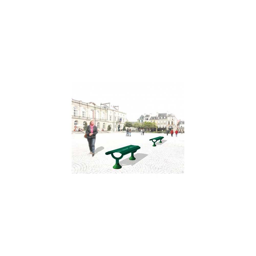 Ławka bez oparcia i ławka-podpórka Oslo zewnętrzna