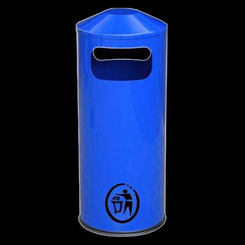 Kosz na śmieci orągły plastikowy z popielnicą TARAS K010 60 litrów