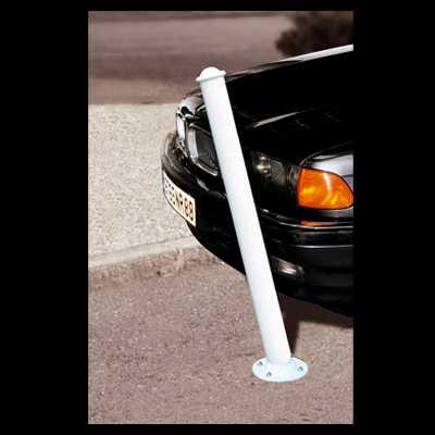 Słupki drogowe odchylane amortyzujące biały kolor