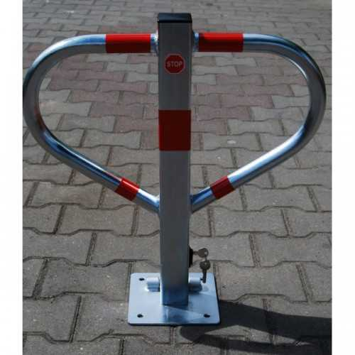 Blokada słupek zapora parkingowa Triangle składana na klucz ocynk