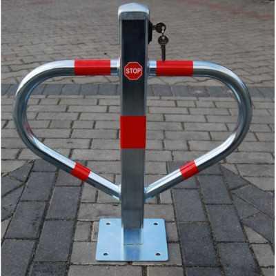 Blokada słupek zapora parkingowa Triangle składana na klucz górny ocynk