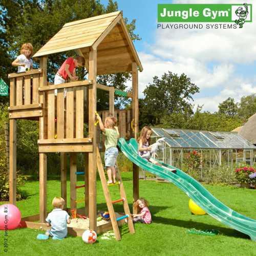 Drewniany plac zabaw Jungle Gym PALACE