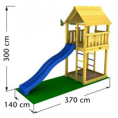 Drewniany plac zabaw Jungle Gym CABIN
