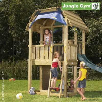 Drewniany plac zabaw Jungle Gym BARN