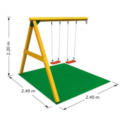 Drewniana kombinacja placu zabaw Jungle Gym TWINTOWER
