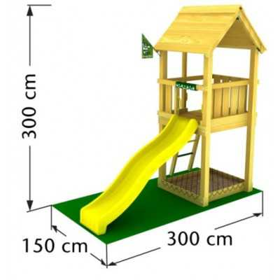 Drewniana kombinacja placu zabaw Jungle BALTAZAAR