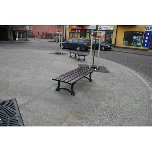 Ławka bez oparcia uliczna