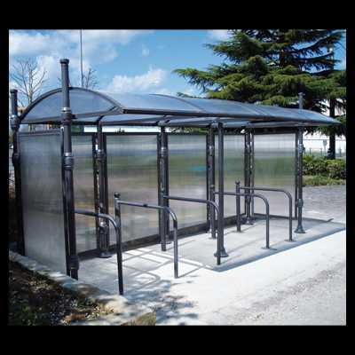 Wiata aluminiowa z zadaszeniem Dekoracyjna rowerowa przystankowa sklepowa duża