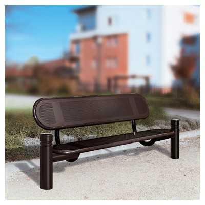 Ławka zewnętrzna metalowa Estoril czarna